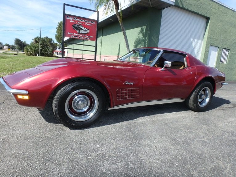 Used 1971 Chevy Corvette Stingray for sale $21,500 at Rose Motorsports, Inc. in Fort Myers FL