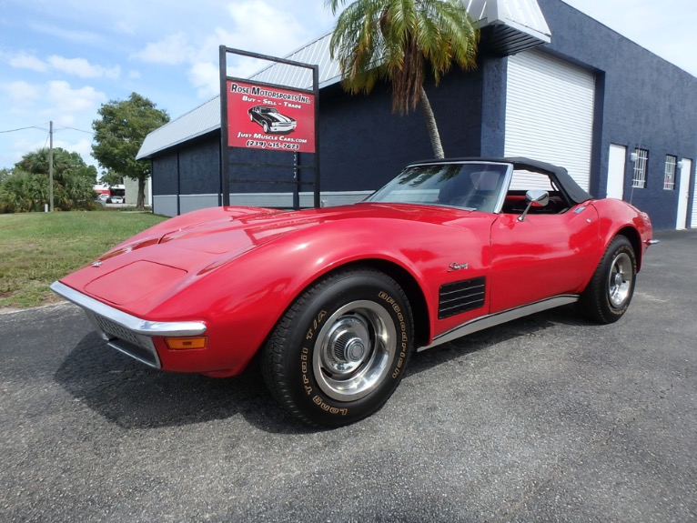 Used 1972 Chevy Corvette Stingray Convertible for sale $24,900 at Rose Motorsports, Inc. in Fort Myers FL
