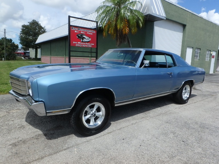 Used 1970 Chevy Monte Carlo for sale $15,900 at Rose Motorsports, Inc. in Fort Myers FL